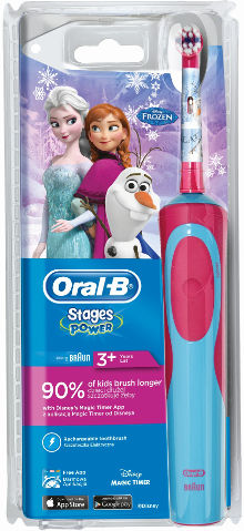 ORAL B ELECTRIC KIDS BRUSH LONGER